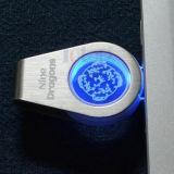 Pendrive 32g Kristall der USB-grellen Platte mit LED-Firmenzeichen