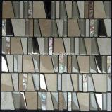 Vidrio del trapezoide de Luxuary y azulejo de mosaico de piedra natural