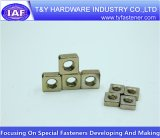 Haute qualité DIN557 écrou carré plaqué zinc jaune