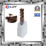 Moinhos de extremidade do carboneto do grau da alta qualidade HRC55 para o alumínio