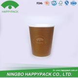 Vaso de Papel rizado con logotipo personalizado