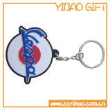 PVC feito sob encomenda relativo à promoção Keychain do logotipo para os presentes (YB-PK-09)