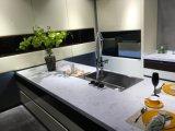 白いラッカーHandlessデザイン食器棚を離れて