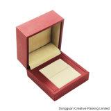 Do anel de imitação da jóia do papel de toque macio do plutônio caixa de empacotamento