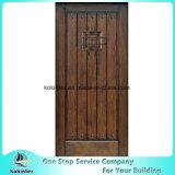 Mogno rústico porta da rua afligida do Speakeasy da madeira contínua