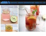 tazza di vetro del muratore della spremuta impressa rubinetto del tè di ghiaccio 350ml