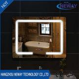 Espejo elegante del nuevo de la hebra cuarto de baño del maquillaje LED, espejo biselado iluminado de la pared, espejo del LED