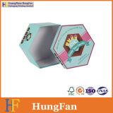Caja de embalaje de empaquetado del regalo de papel del hexágono para las magdalenas del caramelo de chocolate