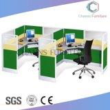 Poste de travail en bois moderne de bureau de 4 personnes (CAS-W1771531)