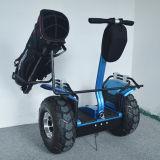 Nueva llegada de la rueda grande del carro de golf, dos ruedas autobalanceo Scooter eléctrico con soporte para bolsa de golf