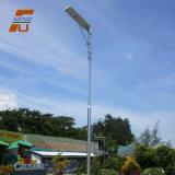 Galvanisiertes elektrisches integriertes Solar-LED Garten-Stahllicht Pole-