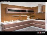 2015welbom laca moderna cozinha MDF armário com a norma ISO