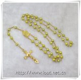 Tutto il rosario colorato della glassa con la traversa/rosario colorati della glassa borda (IO-cr223)