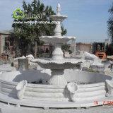 Fontaine d'eau de plein air en marbre en granit de pierre naturelle 100%