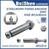 La expansión de acero al carbono Boxbolt de anclaje de acero estructural
