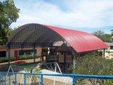 짐 방위 농장을%s 섬유유리에 의하여 강화되는 UPVC 지붕 물자
