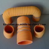 Boyau en caoutchouc de bosse de boyau de plissement droit de silicones pour des pièces d'auto