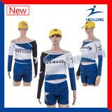 Desgaste impresso do esporte dos uniformes do Cheerleading do Sublimation dos vestidos