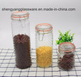 Frasco popular do recipiente de vidro dos produtos vidreiros da cozinha/frasco de vidro para o armazenamento do alimento