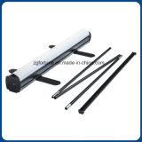 Qualitäts-schwarze Farben-Aluminiumbildschirmanzeige rollen oben Standplatz
