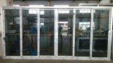Porte coulissante en aluminium de la vente trois d'interruption thermique chaude de pistes avec le modèle de gril