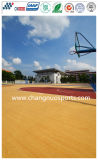Excelente Silicon PU Sports Court para Basketball / Tennis / Vollyball / Badminton Flooring