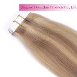Cinta de alta calidad de Brasil extensiones del pelo humano del pelo
