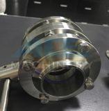 Tres pedazos soldaron la válvula de mariposa con la maneta plástica manual