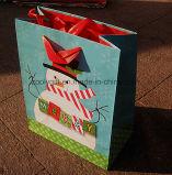 Impresso personalizado papel barato Saco de presentes de Natal
