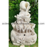 Fontana di acqua esterna di vendita calda elegante splendida del giardino della statua di angelo con l'indicatore luminoso del LED
