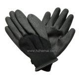 Перчатка работы безопасности зимы перчаток PVC вкладыша ворсистого холодная упорная