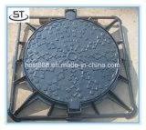 Tampa de câmara de visita Ductile quadrada resistente do ferro de molde para a construção