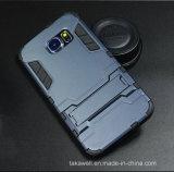 Caisse annexe d'armure d'homme de fer d'OEM de téléphone mobile en gros de la Chine pour le cas de couverture de téléphone cellulaire de bord de Samsung S6