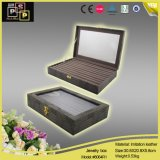Clear Window Leather Jewelry Box d'affichage (8064R1)