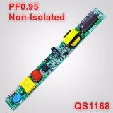 fuente de alimentación sin aislar de la lámpara de 12-26W PF0.95 T5/T8 LED QS1168