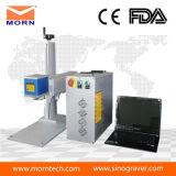 máquina da marcação do laser da fibra 20W para a venda de alumínio plástica do plástico do aço inoxidável da gravura
