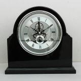 Reloj de vector esquelético de madera del final negro magnífico del piano