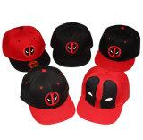 Chapéu de basebol 6-Panel liso quente de Deadpool Hip Hop da venda com bordado