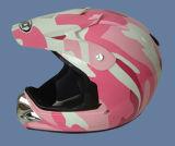 De Helm van de Motorfiets van de PUNT (121-camouflage Roze)