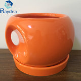 POT di ceramica di figura arancione della sfera