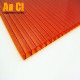 Folha geada da telhadura da cavidade do policarbonato 2-Wall com proteção UV