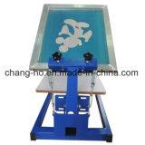 Machine d'impression simple manuelle d'écran de vêtement de couleur