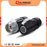 Cnlinko Gold-Plated de contato do pino 5 do Conector do Fio de Alimentação Elétrica Automotiva impermeável IP67 Ficha PP DC
