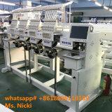 4개의 헤드는 Wilcom 자유로운 소프트웨어를 가진 모자 자수 기계 1204c를 전산화했다