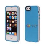 Color de doble cubierta de Teléfono Móvil de TPU para iPhone 5 (iP5-TPU0014)