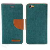 Cas de téléphone mobile de cuir de chiquenaude de pochette de qualité pour l'iPhone 6 6s