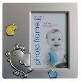 Серебряный позолоченный металлическая рамка для фотографий (КИД-09015)