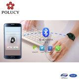 Silicone móvel Smartwatch do telefone de pilha da forma 3G com cartão de SIM