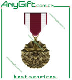 Die in lega di zinco Casting 3D Medal con Antique Brass Plating