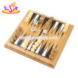 卸し売り安い教育ゲームの子供W11A070のための木のバツクギャモン盤
